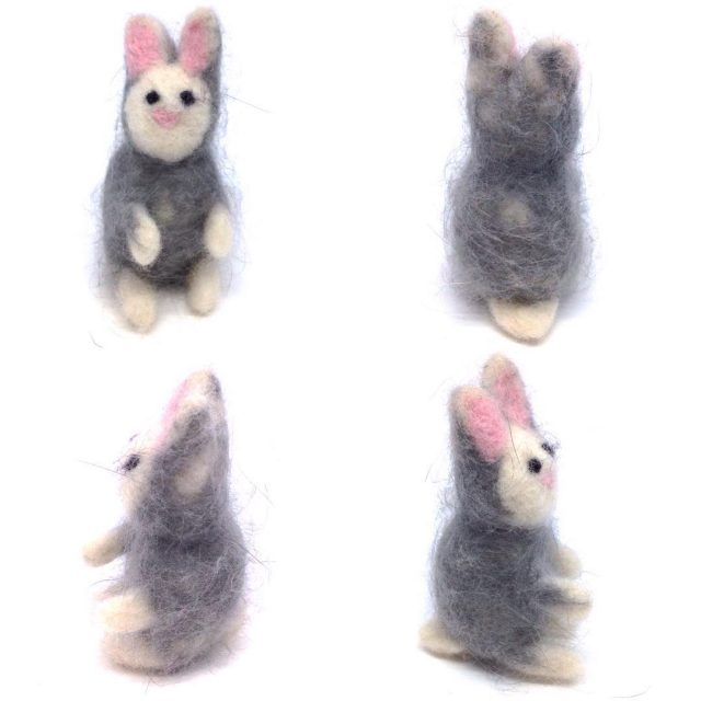 First needlefelting experiment  this little bunny! merinotops with myhellip