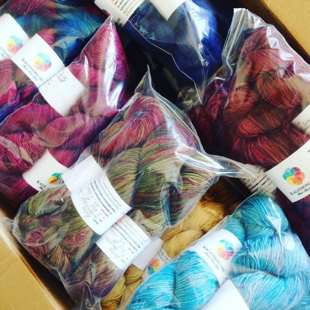 Look what just arrived!!! Yarn from my new online exclusivehellip