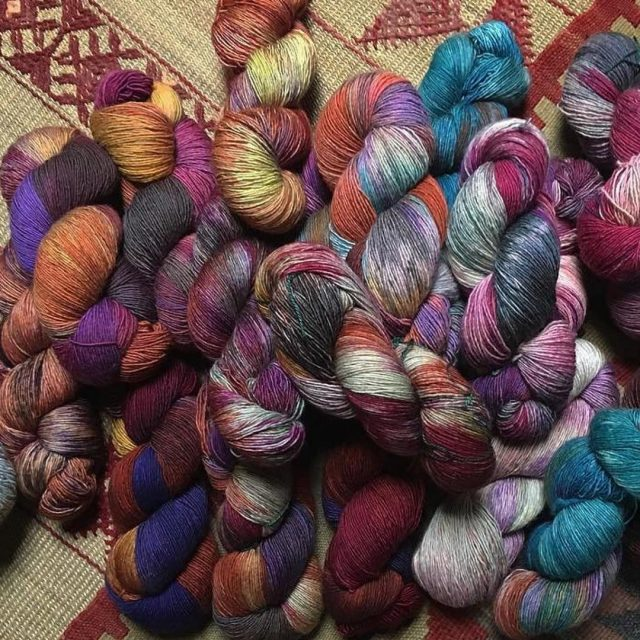 Repost wishboneyarn with repostapp  Soon available at naturalyarns indiedyerhellip