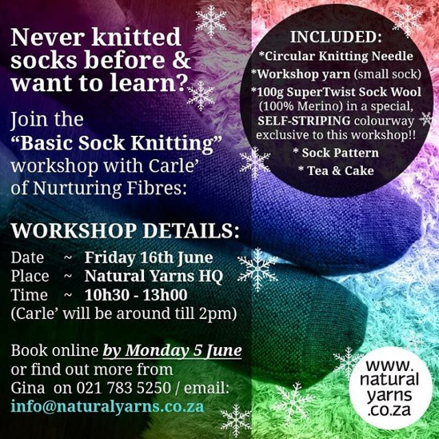 Exciting news!! nurturingfibres will be presenting a beginners sock knittinghellip