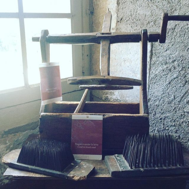 Wool processing tools from long ago on display at Hauteforthellip