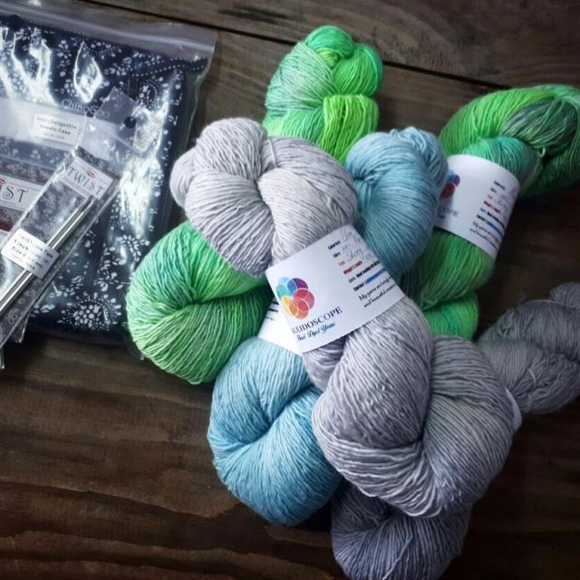 chiaogoo and a lovely selection of kaleidoscopehanddyedyarns on its wayhellip