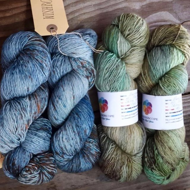 WishboneYarns Chickadee and kaleidoscopeyarns Mermaids must dream too in gorgeoushellip