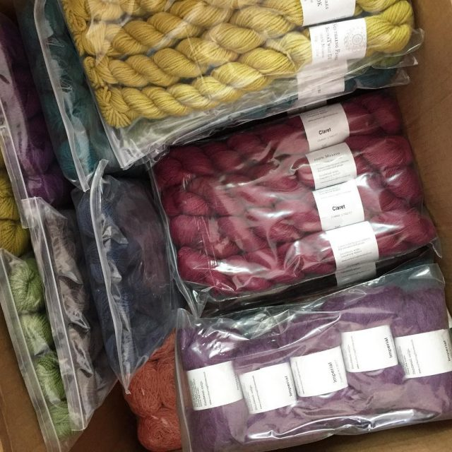 Unpacking the new nurturingfibres colourways happydance proudlysouthafricanyarns naturalyarnssa