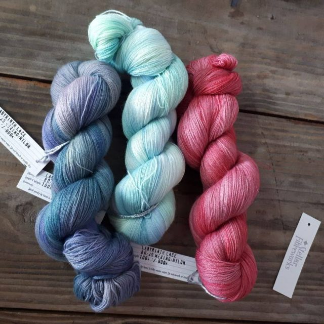 Coming soo to the shop Gorgeous lace from Stellar Fibreworkshellip
