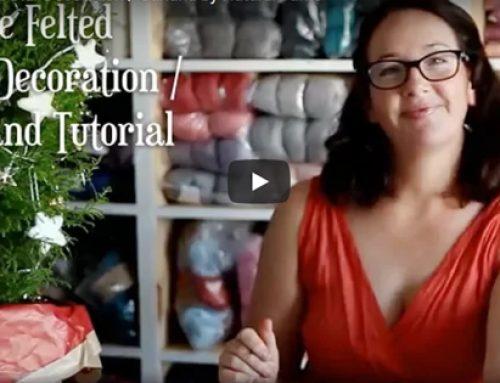 Festive Needle Felted Star Decoration / Garland – Video Tutorial